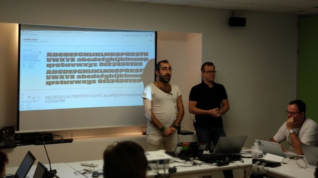 Behdad Esfahbod and Dominik Röttsches talking about Variable Fonts
